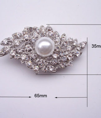 extravagant pearl wedding brooch