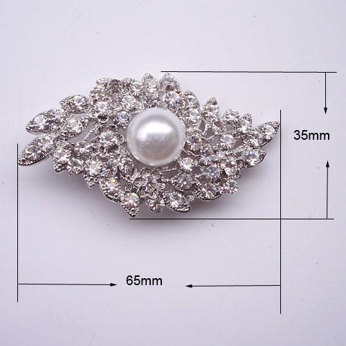 extravagant pearl wedding brooch