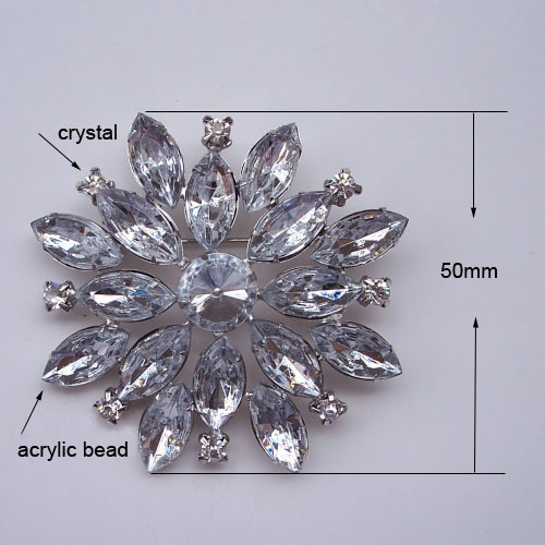 Star Crystal Brooches