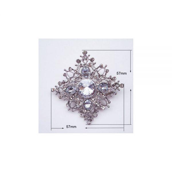 snowflake crystal brooch