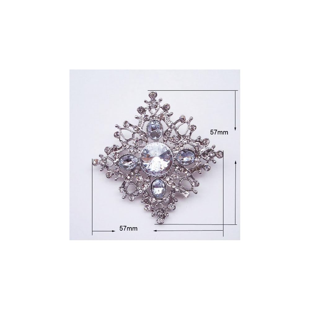 Crystal Snowflake Brooch For Winter Wedding Invitation Embellishments
