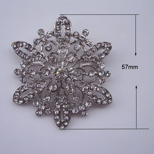 Large Snowflake Brooch To Embellish Wedding Invitation Cards Boxes