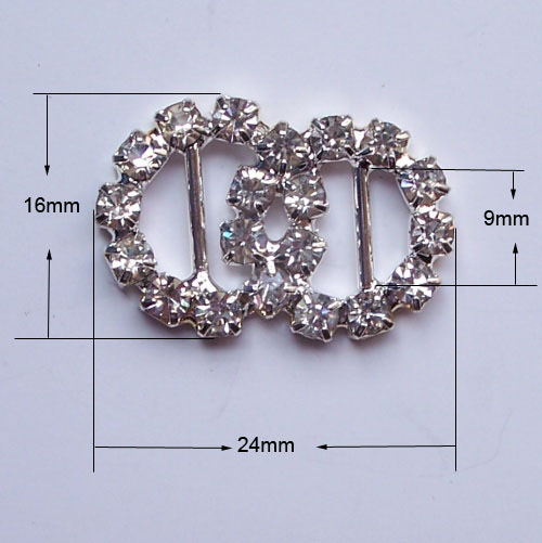 round pair buckle for wedding