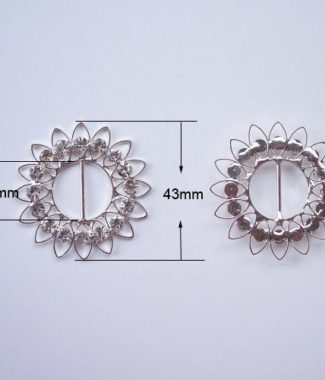 large flower buckle for wedding cards