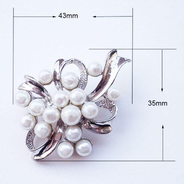 Large pearl brooch