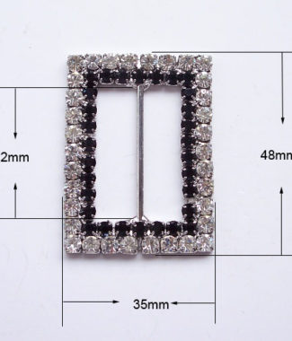 large rhinestone buckle embellishment