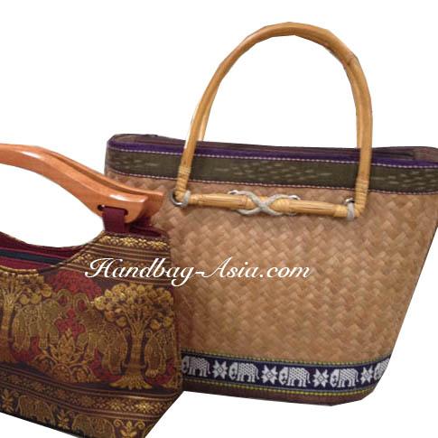 Thai style bamboo handbag