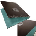 Logo printed leather business folder