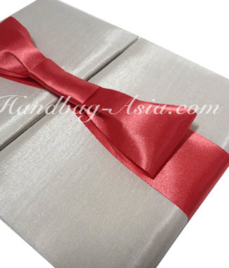wedding folder with bow embellishment for wholesale