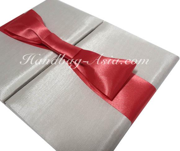 wedding folder with bow embellishment for wholesale
