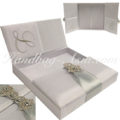 monogram embroidered high-end wedding box for invitations