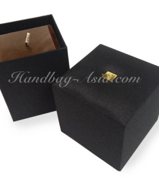 black silk packaging box