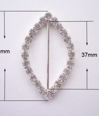 crystal buckle embellishment