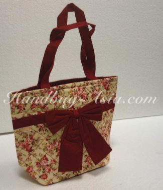 Thai cotton bag with rose pattern