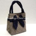 cotton bag with bow
