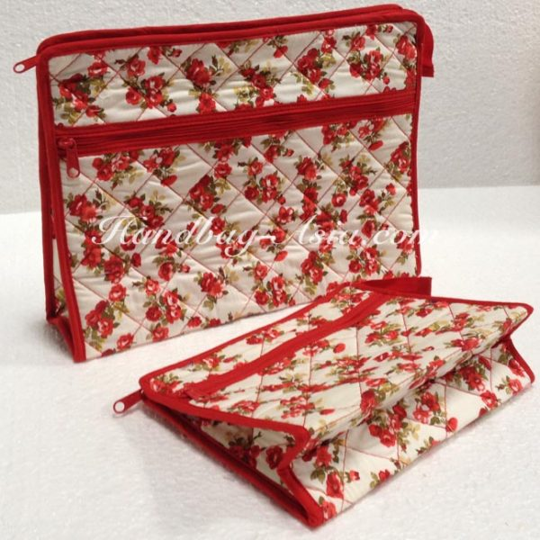 Quilted Cotton Cosmetic Bag Wholesale Set