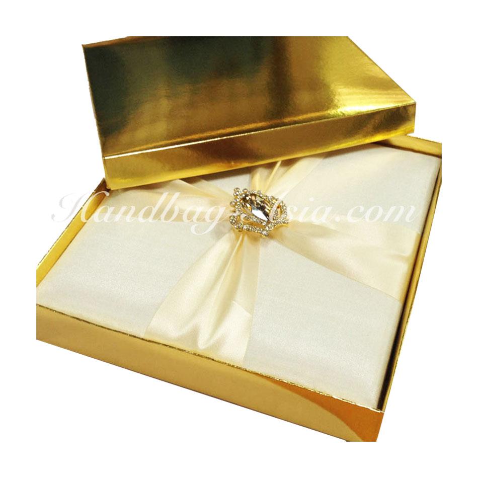 Metallic Gold Mailing Box For Silk Invitation - Handbag-Asia.com ...