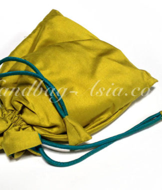Thai Silk Drawstring Bag