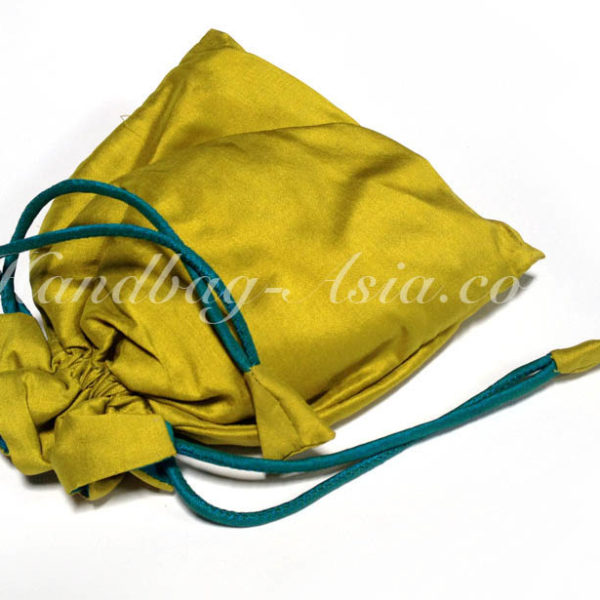 Thai Silk Drawstring Bag