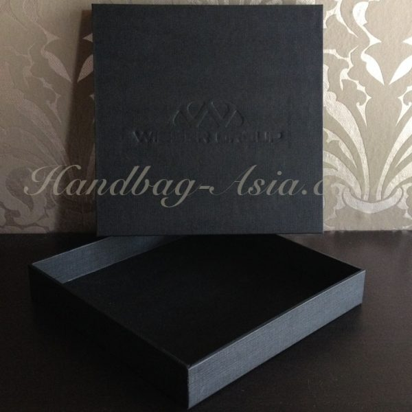 Logo embossed black mailing box