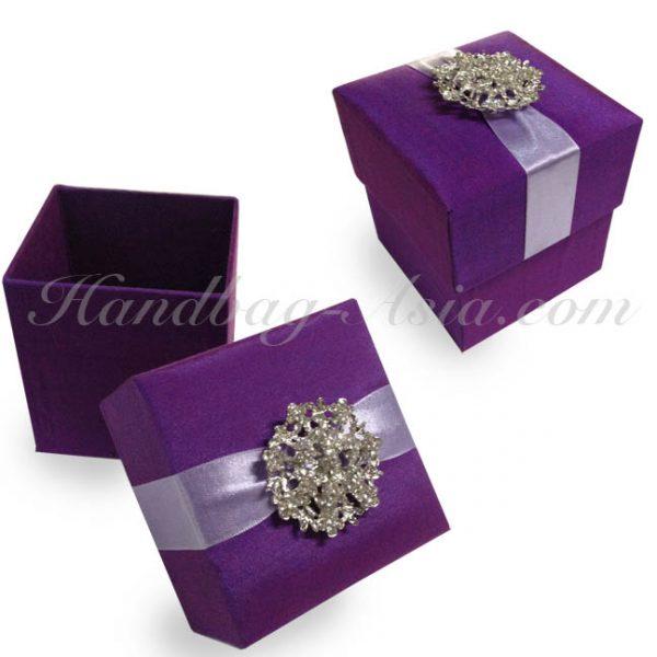 purple silk gift box
