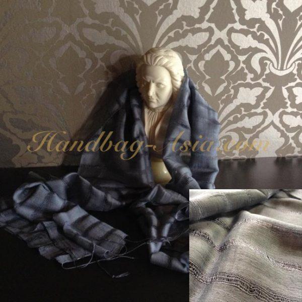 Grey Thai silk shawl
