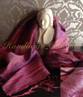 Purple Thai silk shawl