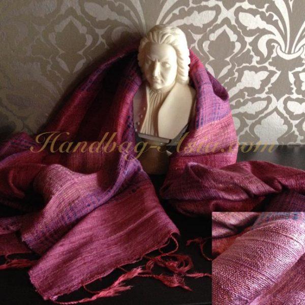 Purple Thai silk shawl