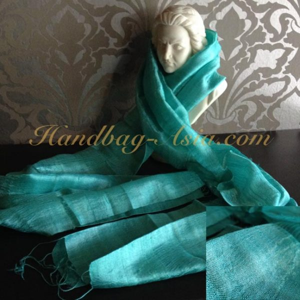 turquoise silk shawl