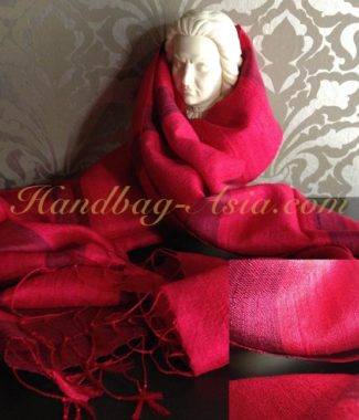 red silk shawl