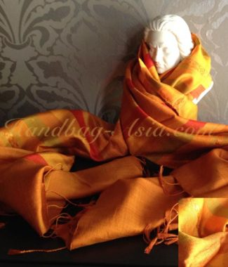 orange silk shawl