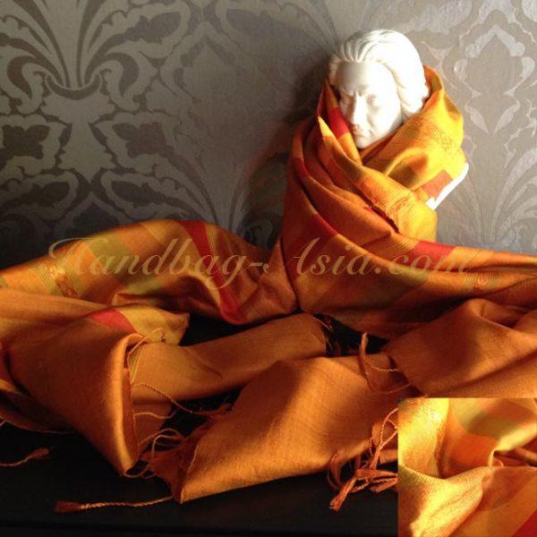 orange silk shawl