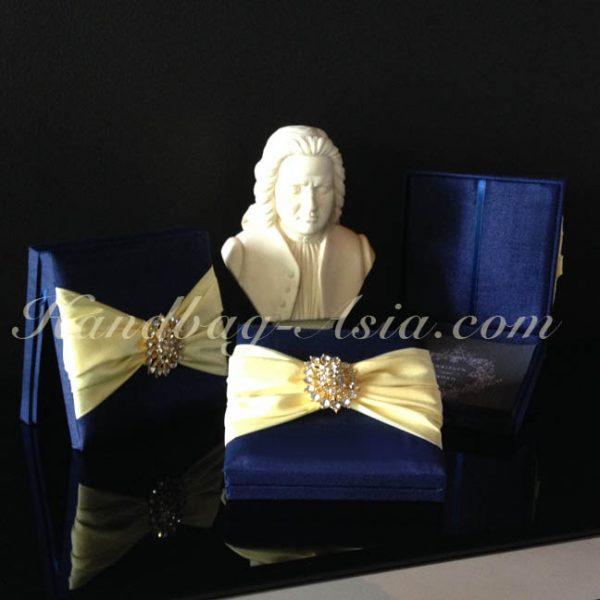 midnight blue high-end wedding invitation box