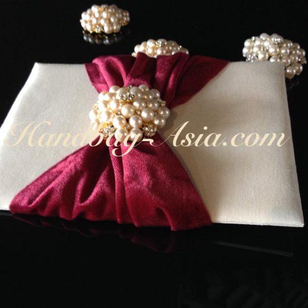 luxury pearl wedding invitation