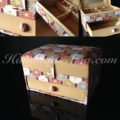 large cotton jewellery box with drawer