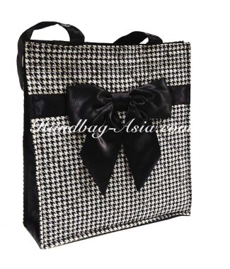 Black & White Quilted Cotton Handbag