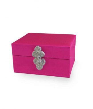 Fuchsia Thai silk box
