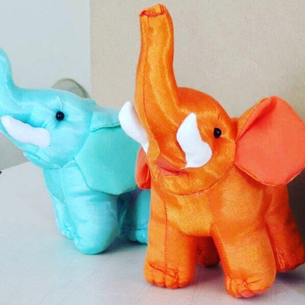 handmade silk elephant