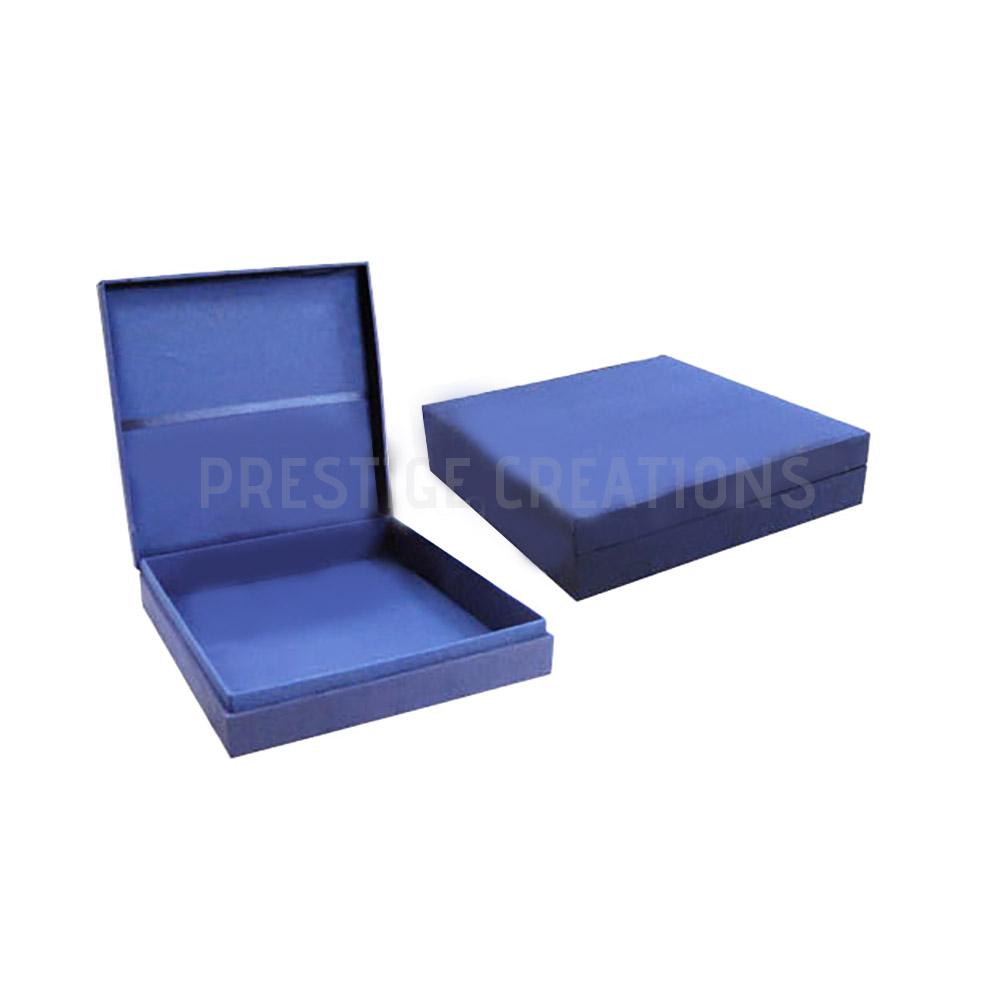 Royal Blue Silk Wedding Box