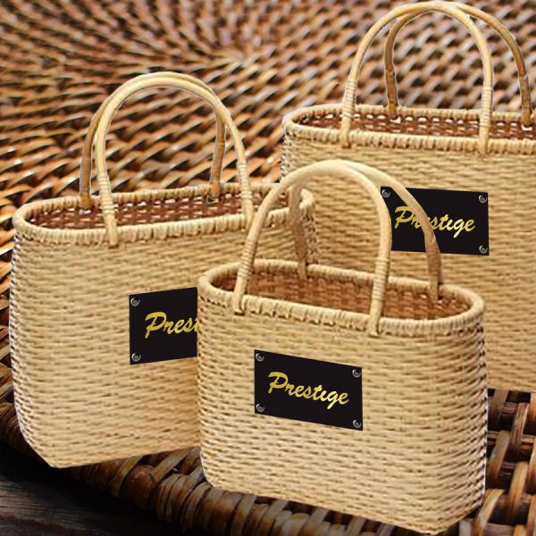 Thai bamboo bag for shopping and grocery