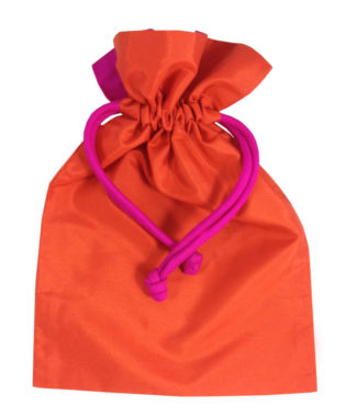 silk drawstring bag