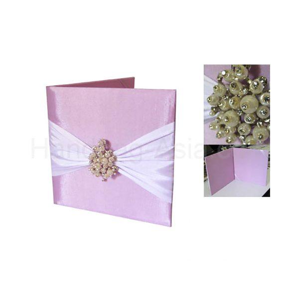 beautiful pearl wedding invitation