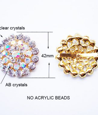Big golden crystal brooch