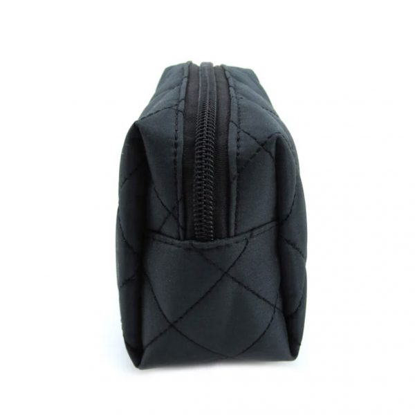 black quilted cotton bag
