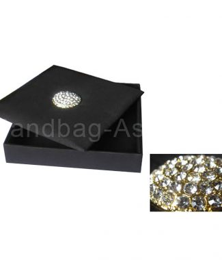 black wedding box with brooch