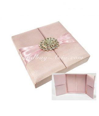 blush pink wedding box