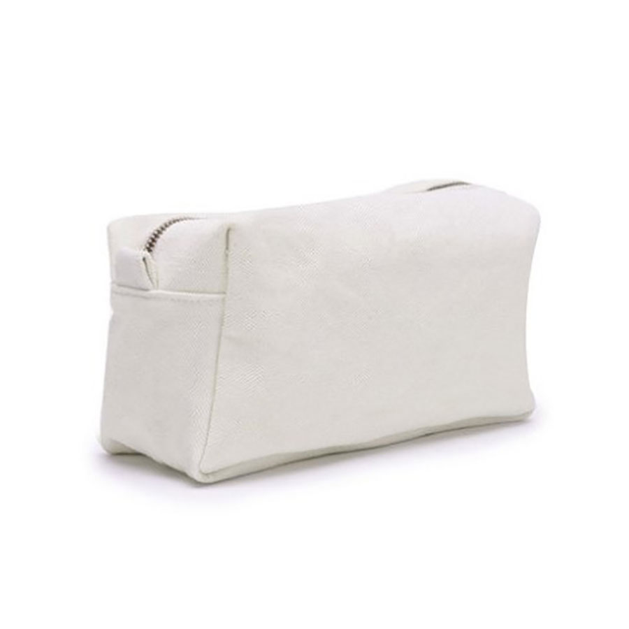 Metal Zippered Canvas Cosmetic Bag Sold For Wholesale From