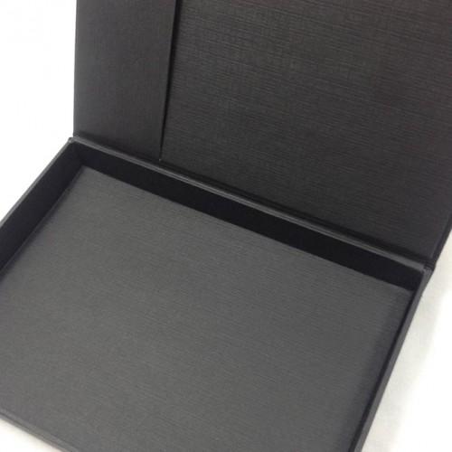 Luxury black paper invitation box