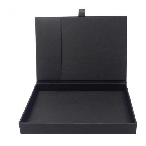 Black hinged lid wedding box