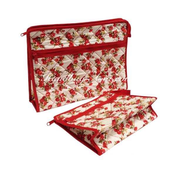 cotton quilted cosmetic bags